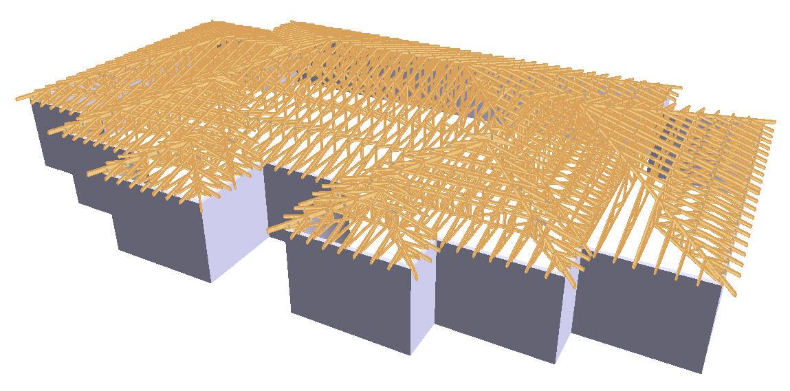 Sarpanta din lemn prefabricata