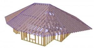 Proiectare case lemn parter