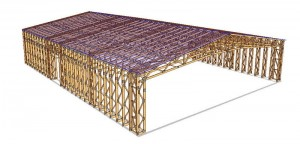 Proiect hala pe structura din lemn