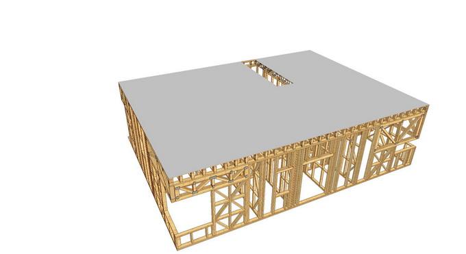 proiect casa din lemn - OSB peste grinzi