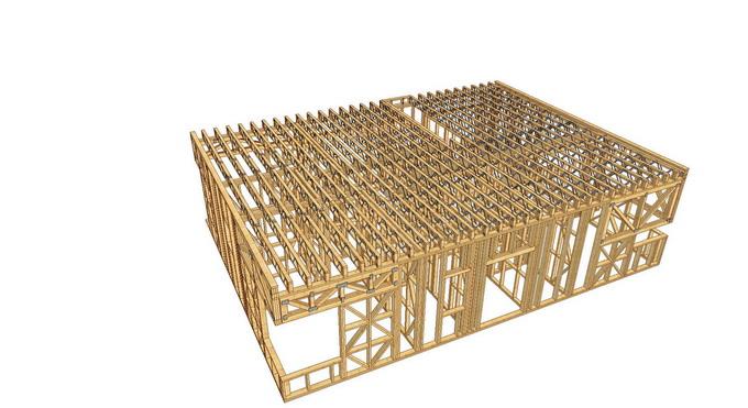 proiect casa din lemn - planseu cu grinzi tip Posi Joist
