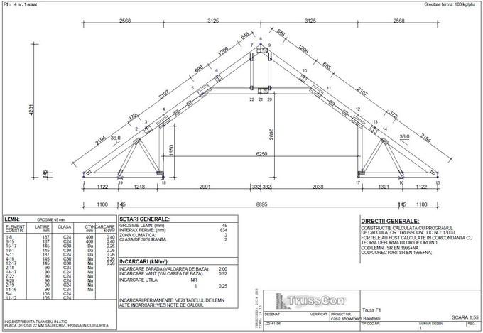 proiectare case din lemn - ferma din lemn 1