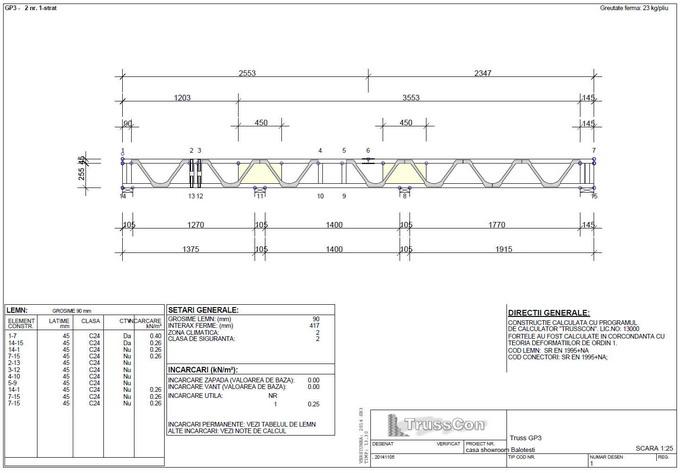 proiectare case din lemn - grinda tip Posi Joist 2