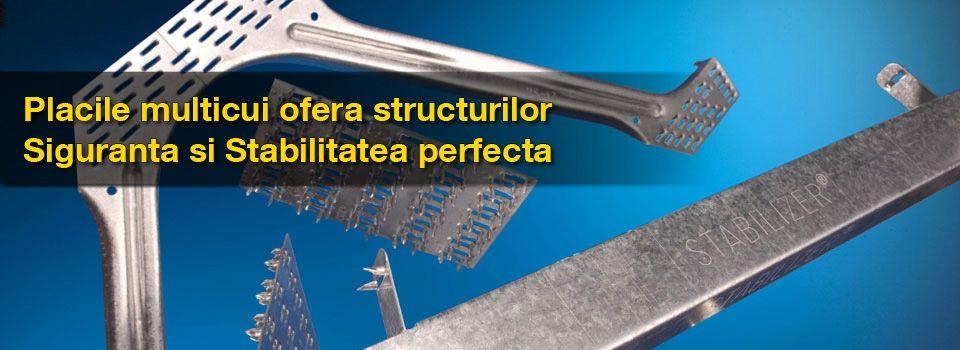 Placile multicui au rolul cel mai important in imbinarea elementelor din lemn. Sunt executate dintr-un otel galvanizat special, calitatea si proprietatile sunt certificate CE. Placile se aplica numai prin presare, fiind interzisa aplicarea prin lovire cu ciocanul.